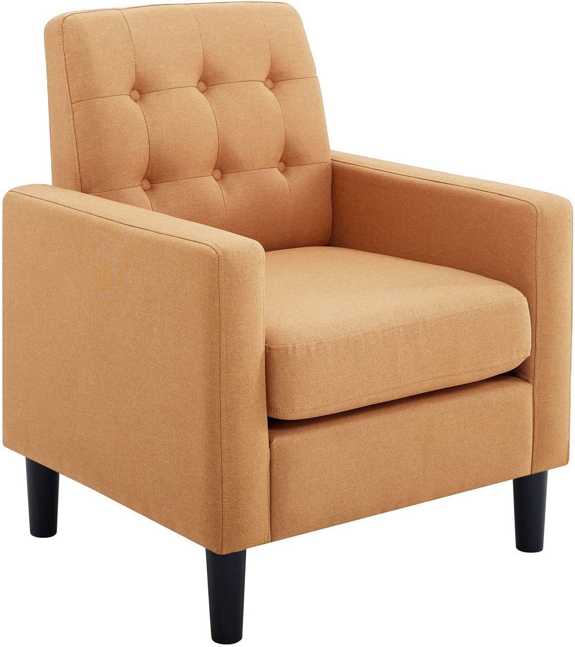 BEEY Modern Accent Armchair Sofa Chair Arm Chair Leisure Sofa with Removable Cushioned Seat Thick Seat Backrest for Bedroom Living Room Office