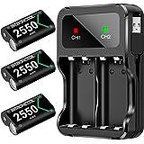 BEBONCOOL - Paquete de 3 baterías para control Xbox One, serie Xbox, 2550 mAh para controladores Xbox One, batería…