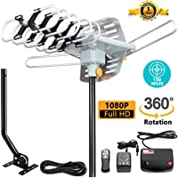 Matis Outdoor Amplified HDTV Antenna 150 Mile Motorized