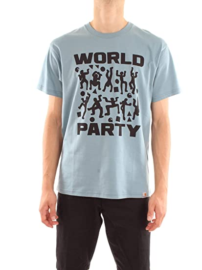 Carhartt I024745-S-S-WORLD-PARTY-T-SHIRT Camiseta Hombre: Amazon ...