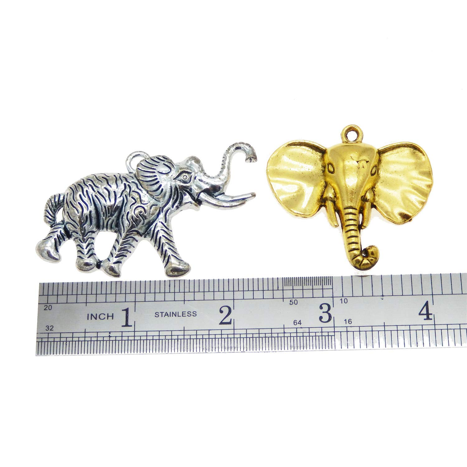 GraceAngie Wholesale 20 piece//pack Mixed Elephant Charms Pendants for Necklace Bracelets Jewelry Making DIY Handmade