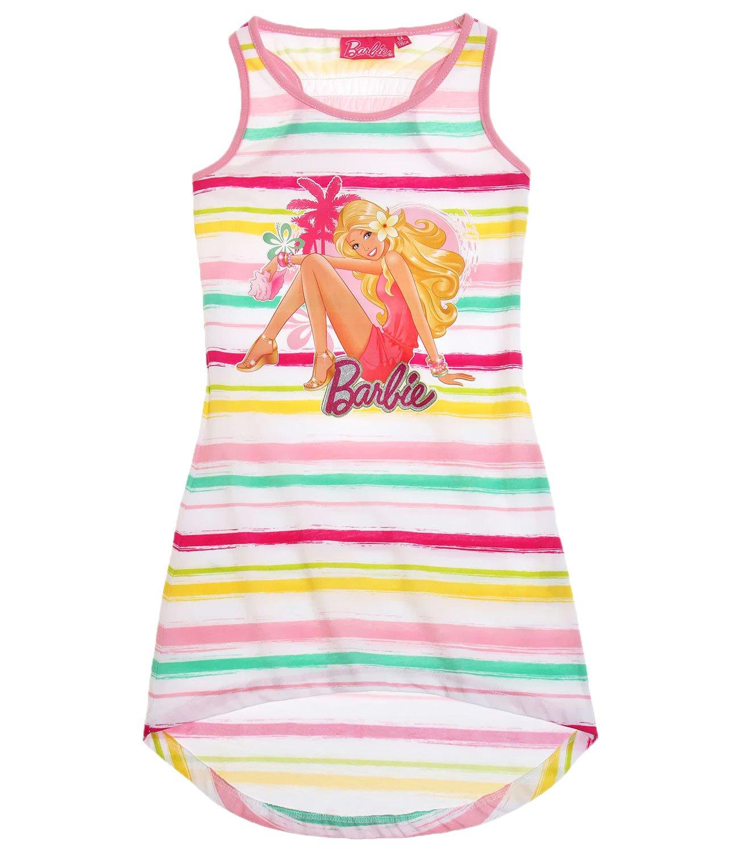 Girls Barbie Sun Dress Kids Cotton Summer Dresses: Amazon.co.uk: Clothing