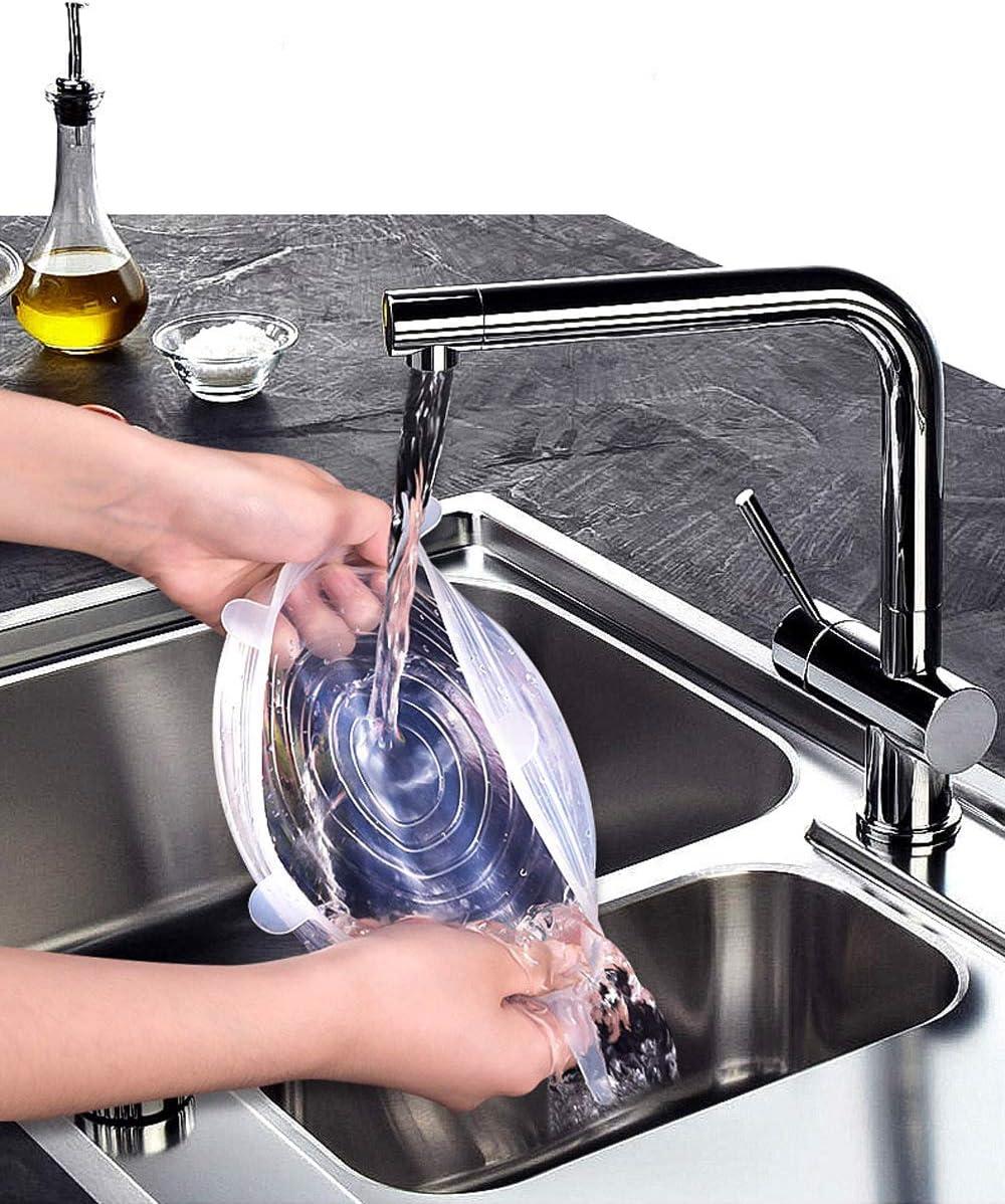 Dosen Tebery 18 Teiliges Dehnbare Silikondeckel Becher BPA Free Wiederverwendbar Silikon Abdeckung Gl/äSer Silikon Stretch Deckel Universal Silikon-Frischhalte-Deckel f/ür Sch/üSseln T/öPfe