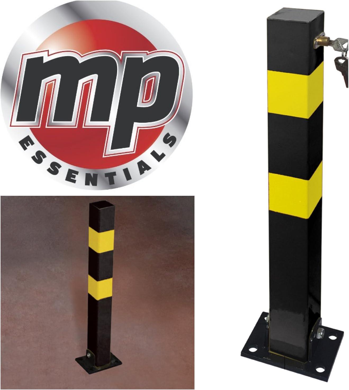 2 Heavy Duty Folding Robust Security Parking Post Driveway Bollard Lock /& Keys