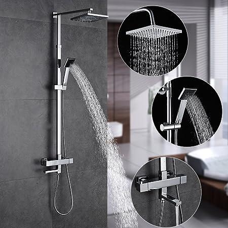 Columna ducha termostatica pared,Auralum® Set de ducha ...