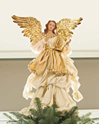 "Balsam Hill 19"" Gold Angel Tree Topper"