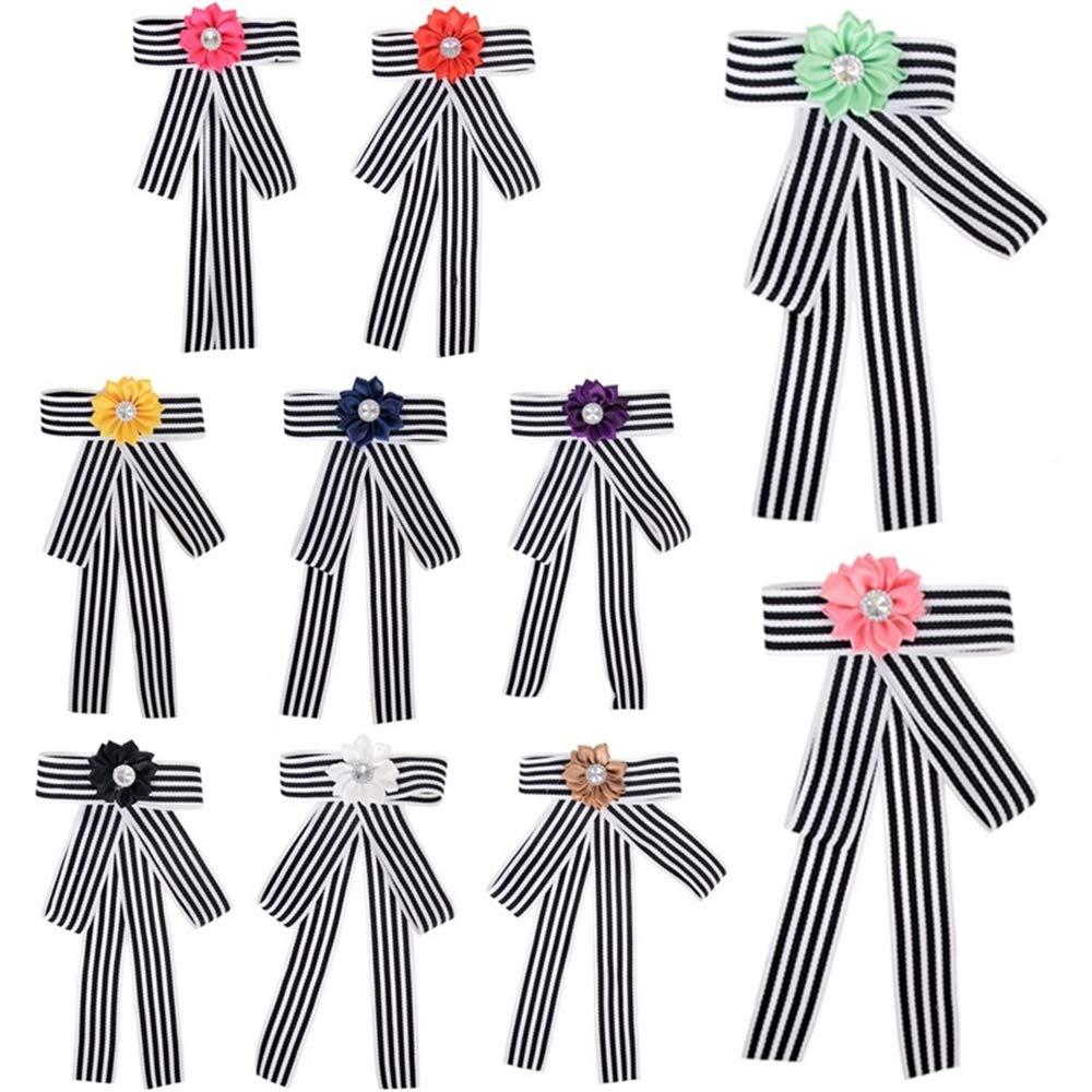 GRBAONI Camisa De Vestir Broche De Broche para Mujer Corbata De ...