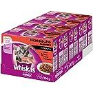 Whiskas Katzen-/Nassfutter Junior <1 Klassische Auswahl in Sauce, 48 Portionsbeutel (4 x 12 x 100g)
