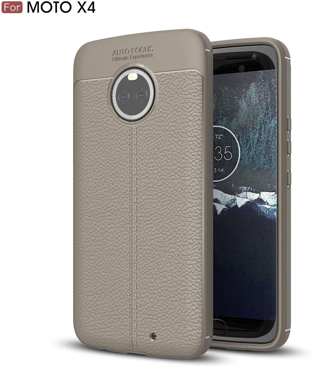 Ycloud Resilient TPU Funda para Motorola Moto X4 Delgado Silicona Case Shock-Absorción Litchi Textura Back Cover Gris Carcasa para Motorola Moto X4: Amazon.es: Electrónica