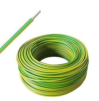 Erdungskabel H07V-U 6 mm² grün/gelb 50 Meter Ring: Amazon.de: Baumarkt