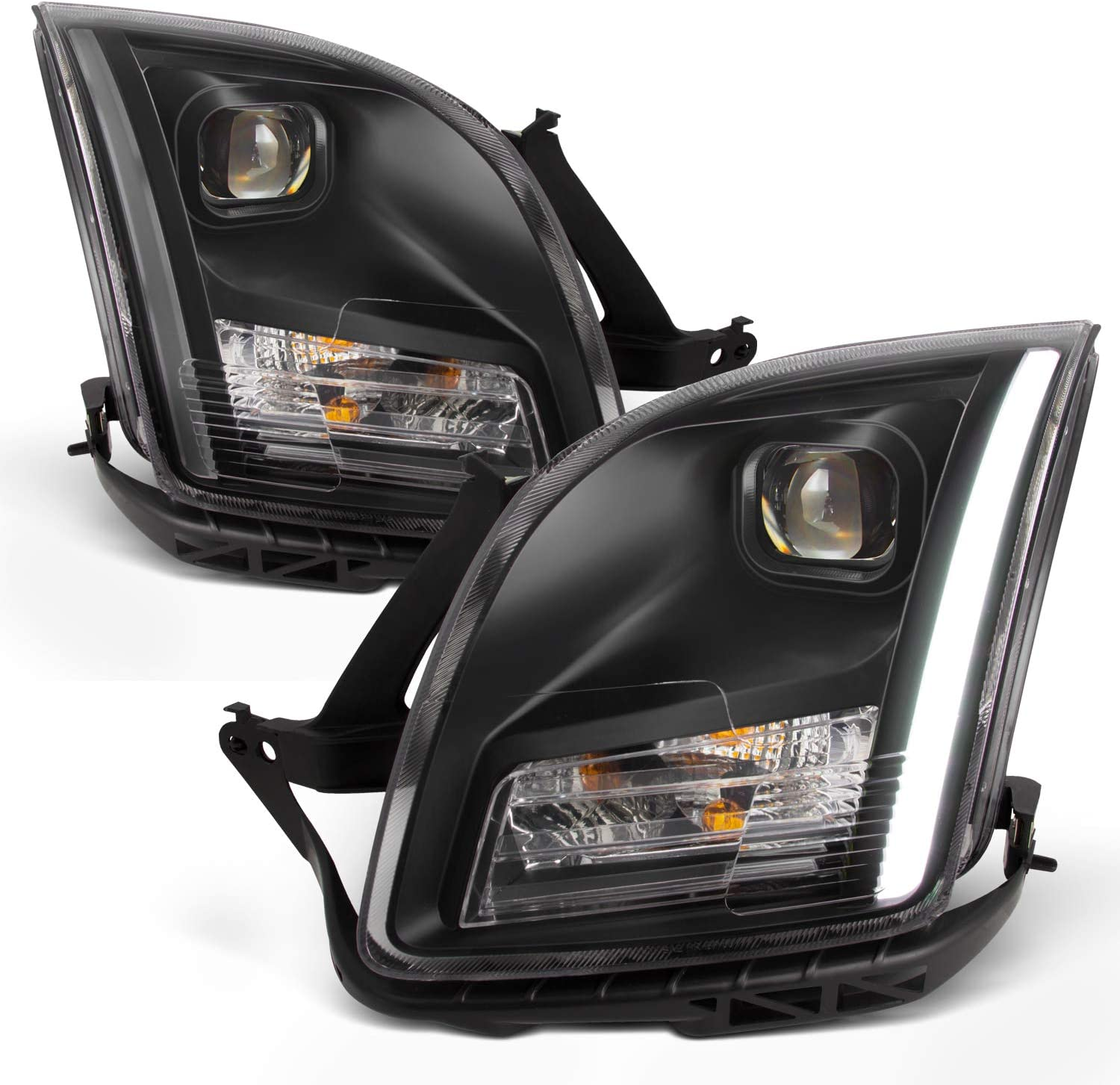 Fits 2006 2007 2008 2009 Ford Fusion Strip Light Bar DRL Projector Headlights Driver Left+Passenger Right Side Pair Set