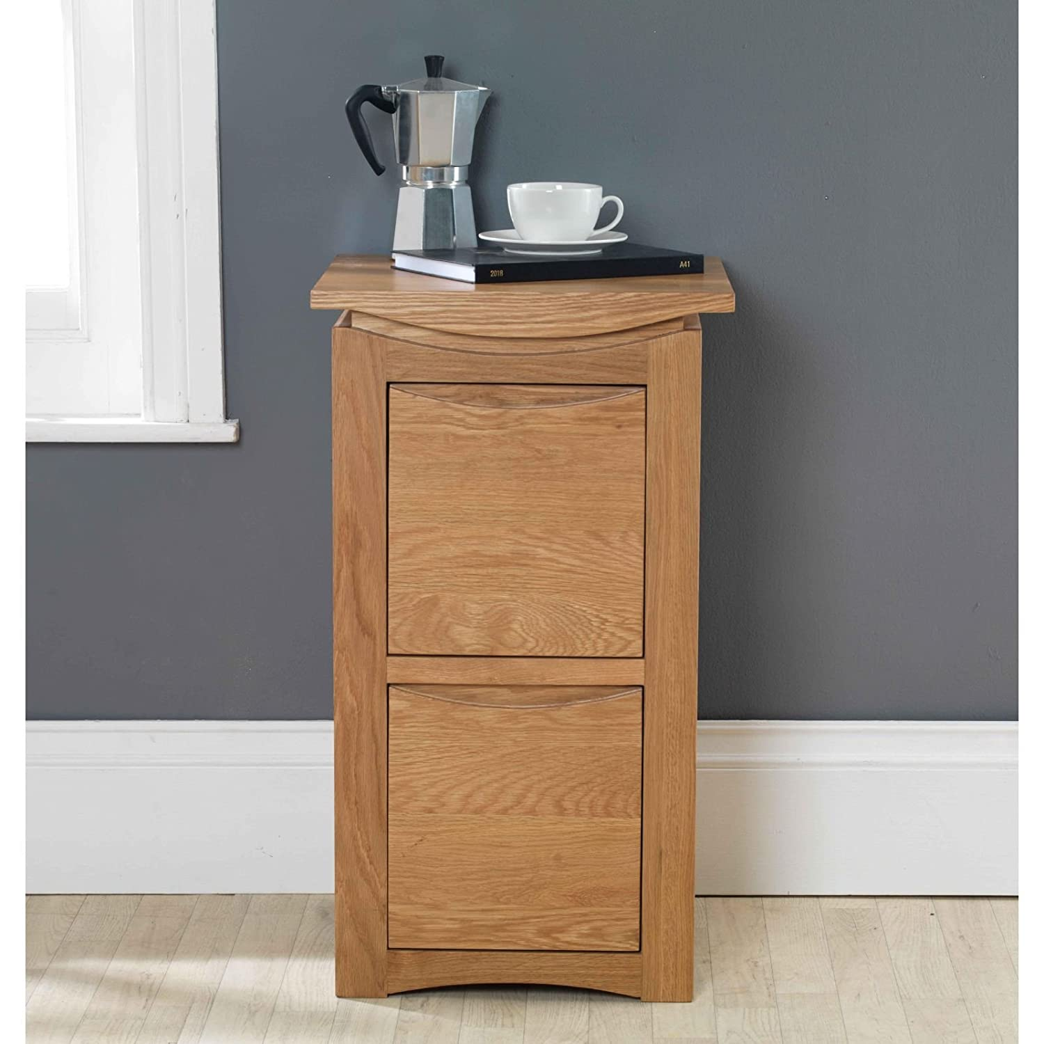 Crescent Solid Oak Furniture Two Drawer Filing Cabinet Furniture Outlet