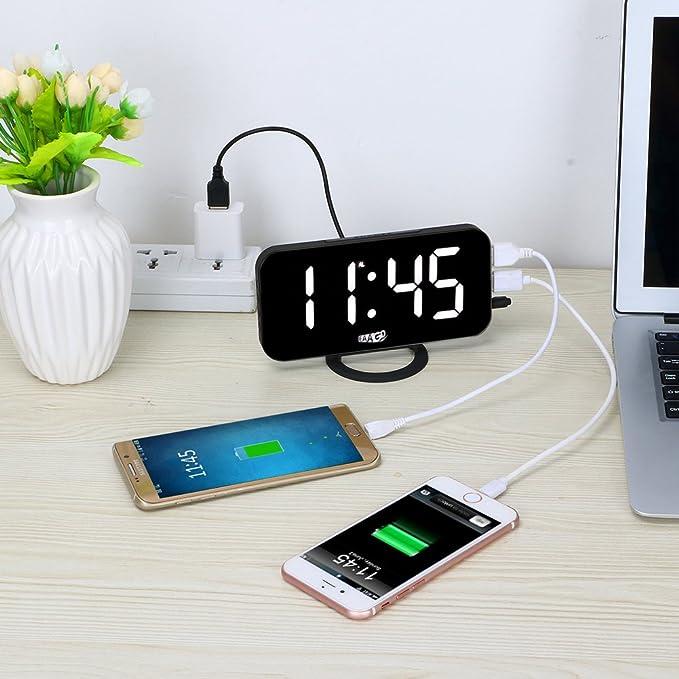 Amazon.com: eaagd fácil Snooze y ajuste del Tiempo LED ...