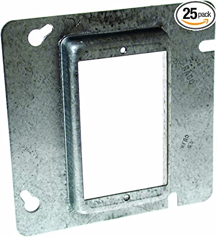 Hubbell Raco 843 Raised 5 8 Inch 4 11 16 Inch Square Mud Ring For 1 Device 25 Pack Home Improvement Amazon Com