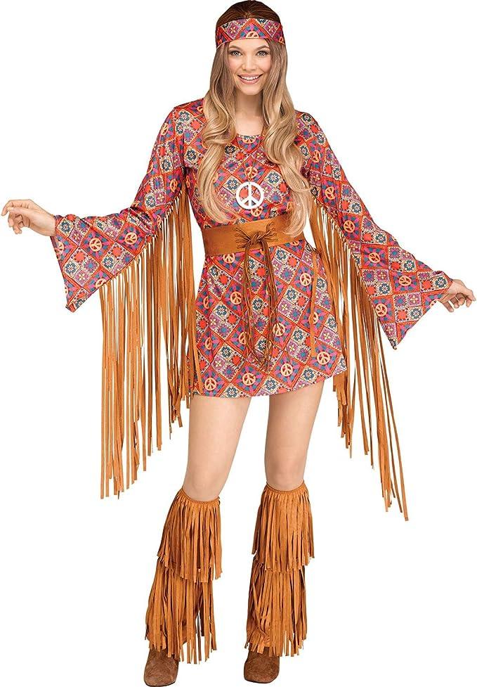 60s Costumes: Hippie, Go Go Dancer, Flower Child, Mod Style Fun World Womens Free Spirit Costume $52.59 AT vintagedancer.com