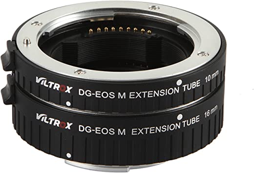 EOS-M M2 M3 M5 M6 M10 M50 M100 VILTROX DG-EOS M Auto Focus Macro Extension Tube Rig,Metal Mount for Canon EOS Mirrorless Camera 10mm 16mm only or conbination