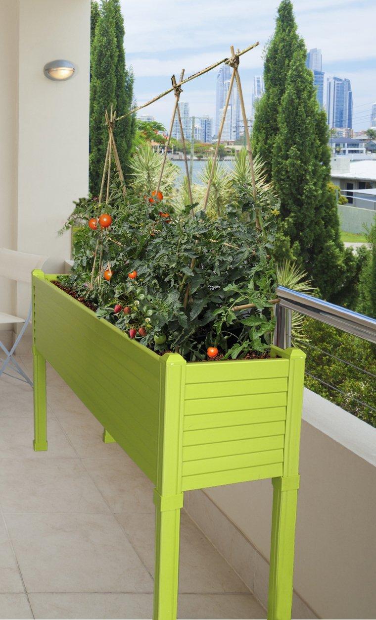 Huerto urbano GREENLAND especial balcón. 120x32x75 cm. Color ...