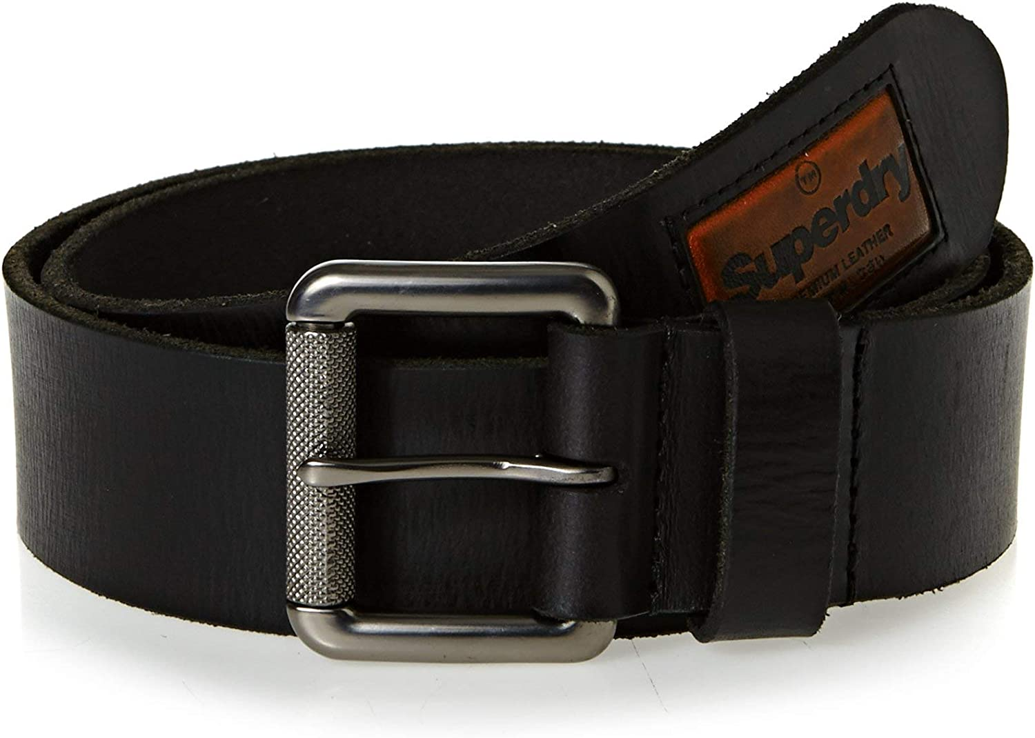 Superdry Herren Badgeman Belt In A Box Gürtel, Schwarz