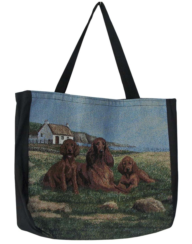 Gone Doggin Irish Setter Tote Bag #3 Women鈥檚 Shoulder Bag Multicolored One Size Dog Tapestry