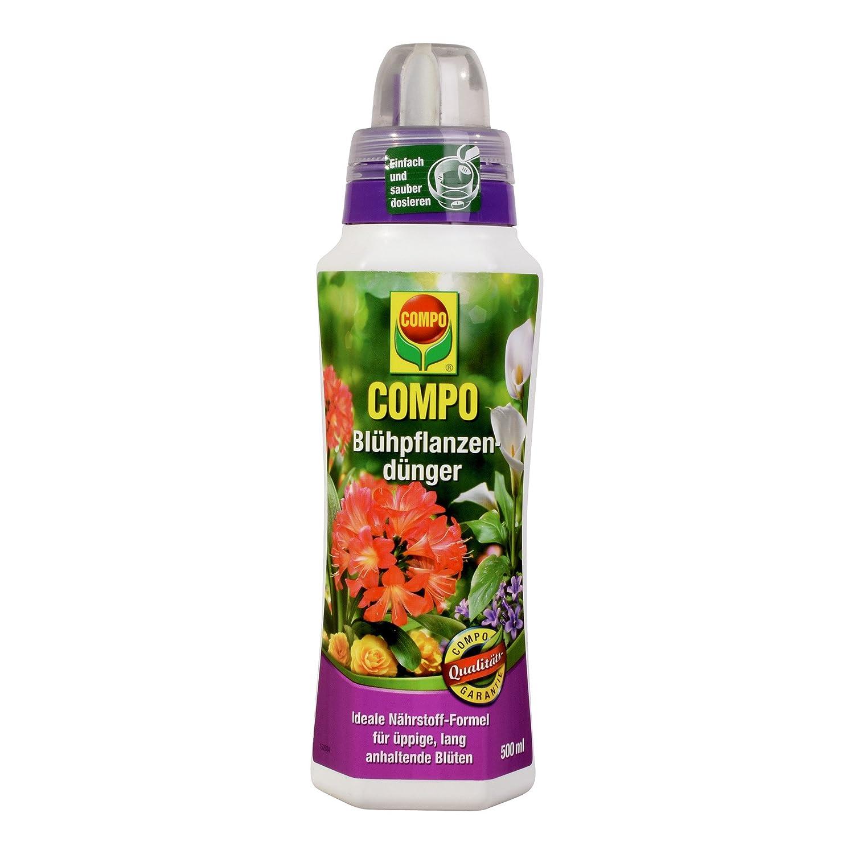 COMPO Blühpflanzendünger für alle Blühpflanzen im Zimmer, auf Balkon und Terrasse, Spezial-Flüssigdünger, 1 Liter 14541