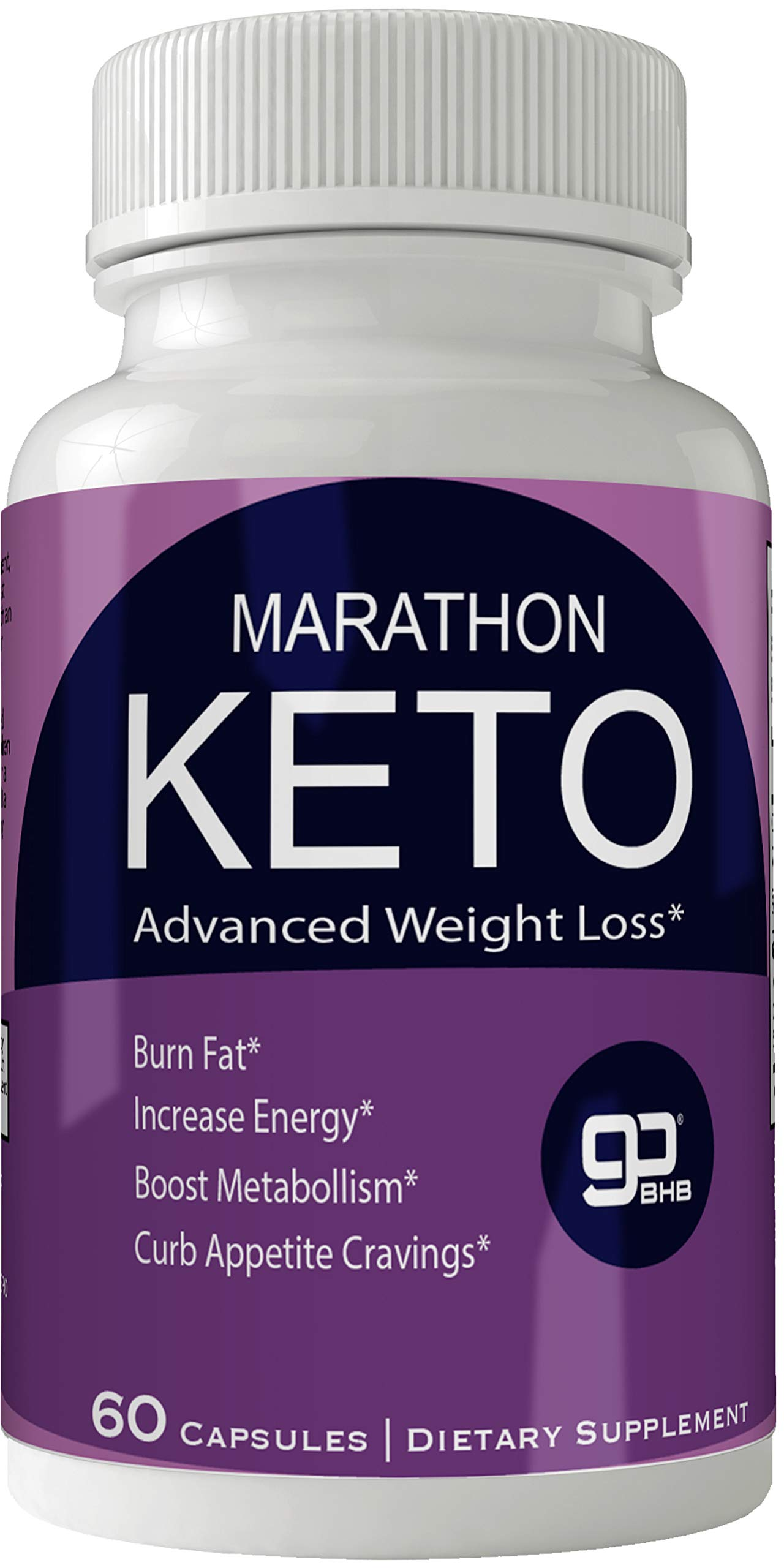 Marathon Keto Advanced Natural Ketogenic Weight Loss Pills for Women and Men, BHB Burn Fat Supplement, 800 mg Formula with New True Slim GO BHB Salts Formula, Advanced Appetite Suppressant Capsules