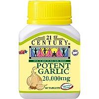 21st Century Potent Garlic , 20000mg (New), 60 count