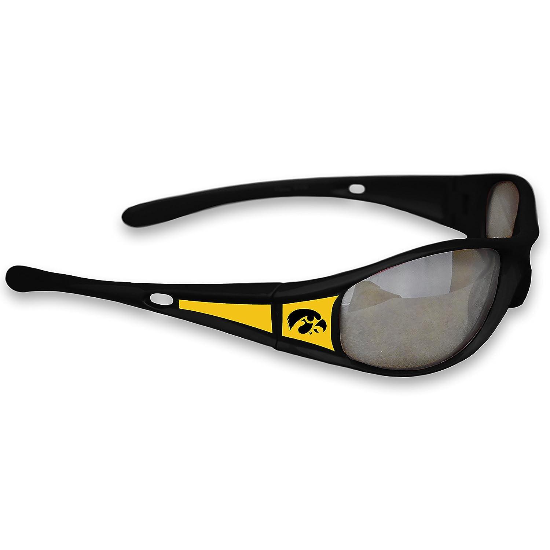 Iowa Hawkeyesブラックスポーツエリート3サングラスロゴ   B071PCWG3L