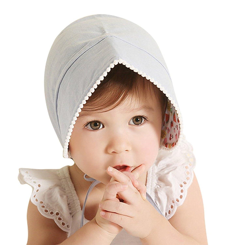 YiQing Bonnet Bébé Printemps Été Chapeau AntiUV en Coton Solaire Petits Filles Garçons 3mois-3 Ans