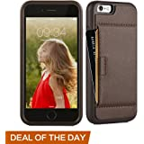 iphone 6 Wallet Case, iphone 6 Case with card holder, ZVE Apple iphone 6s Case [Shockproof] Protective Ultra Slim Leather Wallet with Card Holder Case Cover for iPhone 6 / 6S 4.7 inch (Dark Brown)
