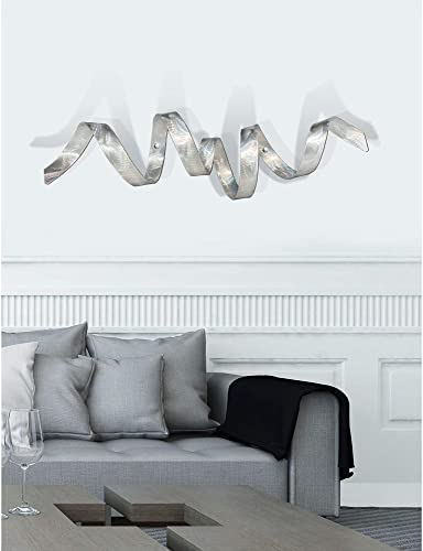 Silver Metal Wall Sculpture