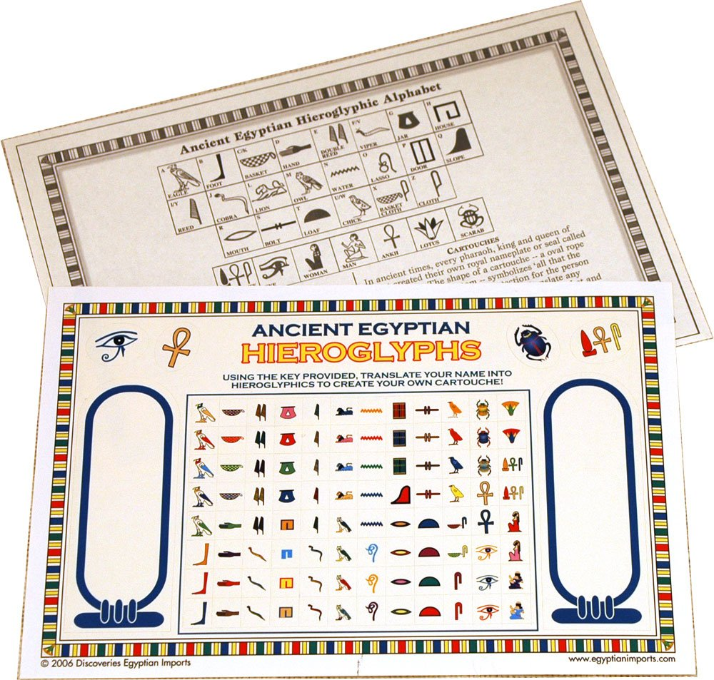 Amazon Ancient Egyptian Boxed Hieroglyphic Activity Kit Made