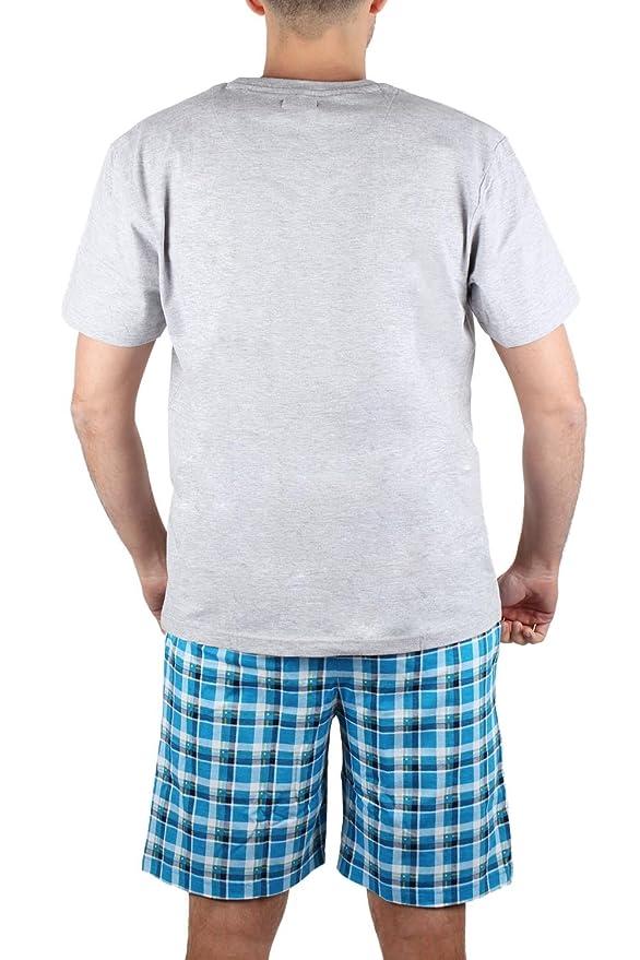 Pijama Manga Corta Hombre Lois Burnout, Color Gris Jaspe, Talla Xxl: Amazon.es: Ropa y accesorios