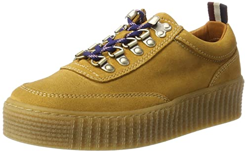 Tommy Jeans Hilfiger Denim K1385elly 1b, Sneakers Basses Femme, Jaune (Spruce Yellow), 41 EU