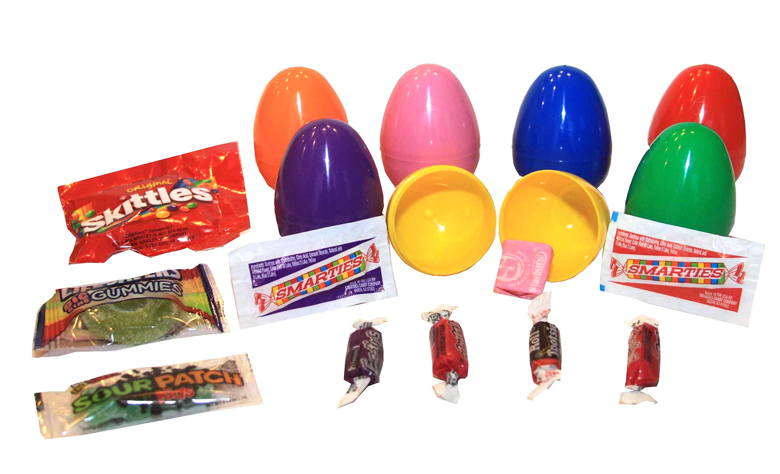 Plastic Easter Eggs - Candy Filled (1000 pcs)