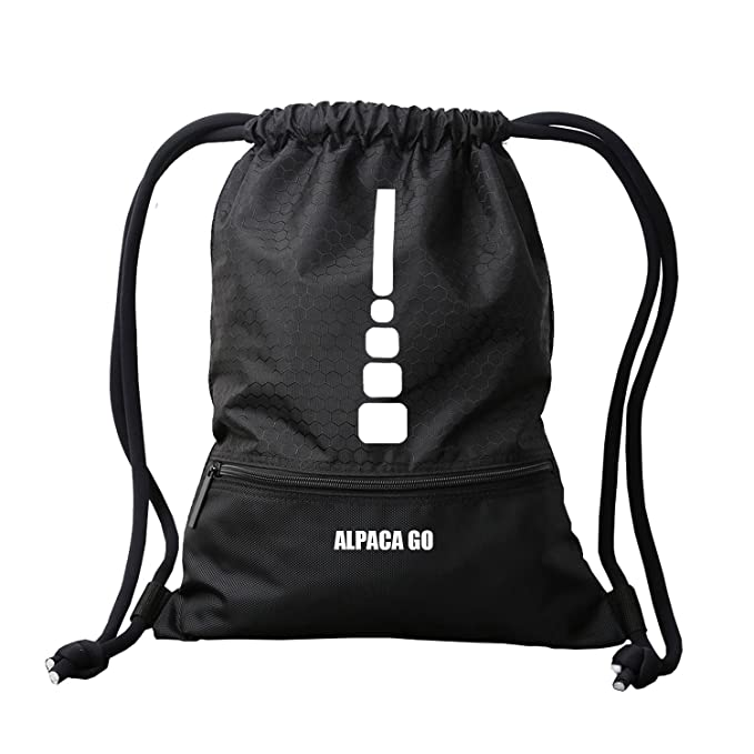 c9b8dd28aaba Drawstring Bags Water Resistant Large Backpack Gym Bags for Basketball  Sport Gym (Medium