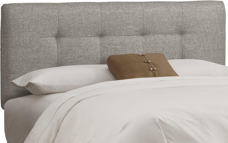 Skyline Furniture Tufted Headboard, Queen, Linen Grey