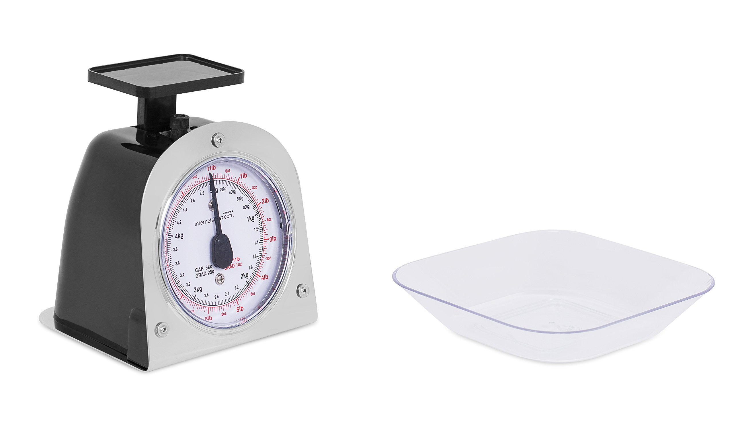 Internet's Best Mechanical Kitchen Food Weight Scale with Bowl | Accurate Measurements | Weighs Up 11 Lbs | 1KG - 5KG by Internet's Best (Image #3)