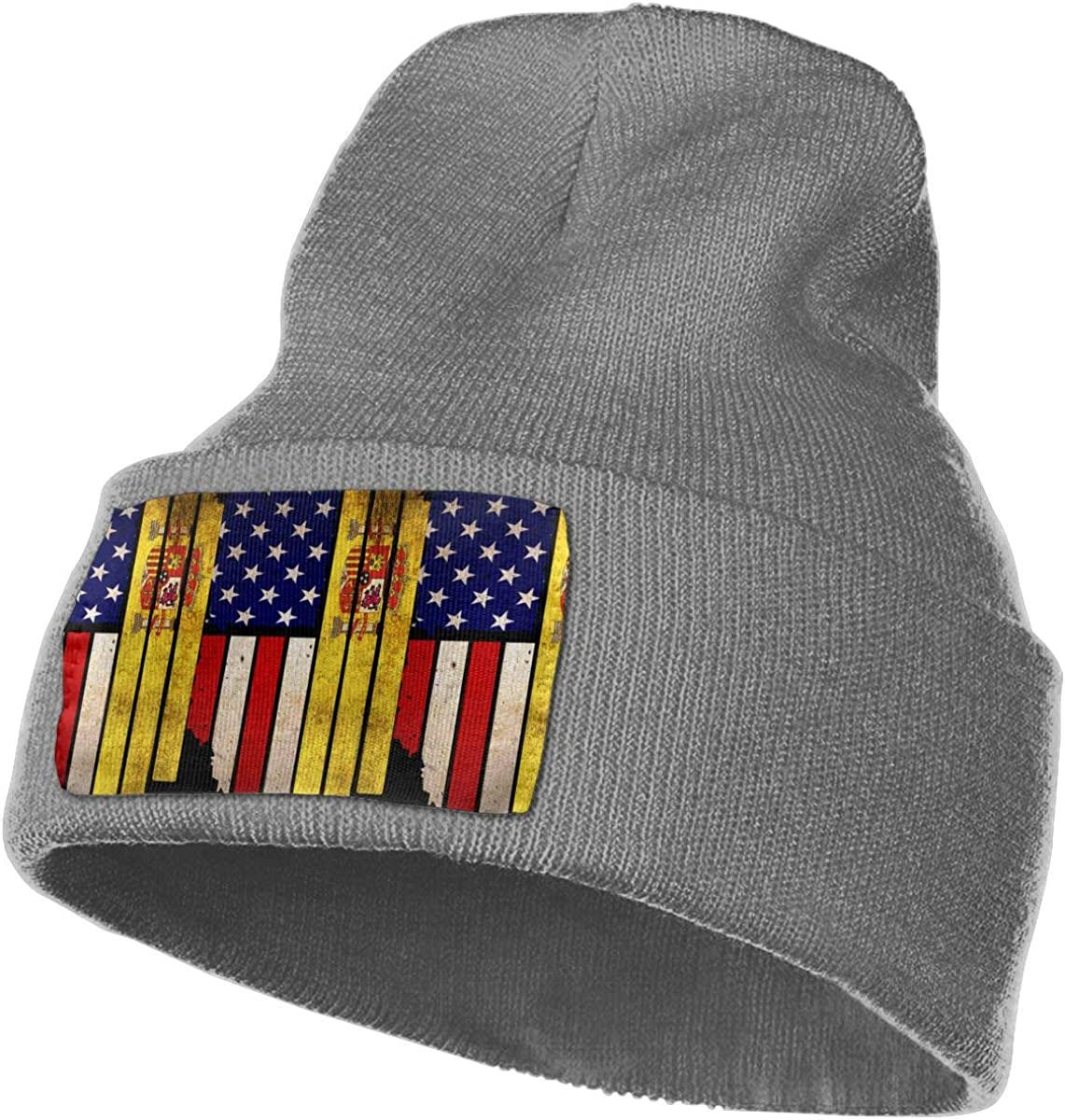 Vintage USA Spain Flag Warm Knitting Hat Mens Womens 100/% Acrylic Beanie Hat