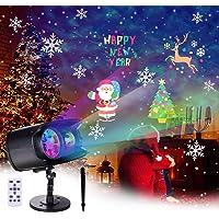 BACKTURE Luces de Proyector de Navidad, LED Lámpara Iluminación Exterior Interior Integradas 9 Escenas y 13 Ola del…