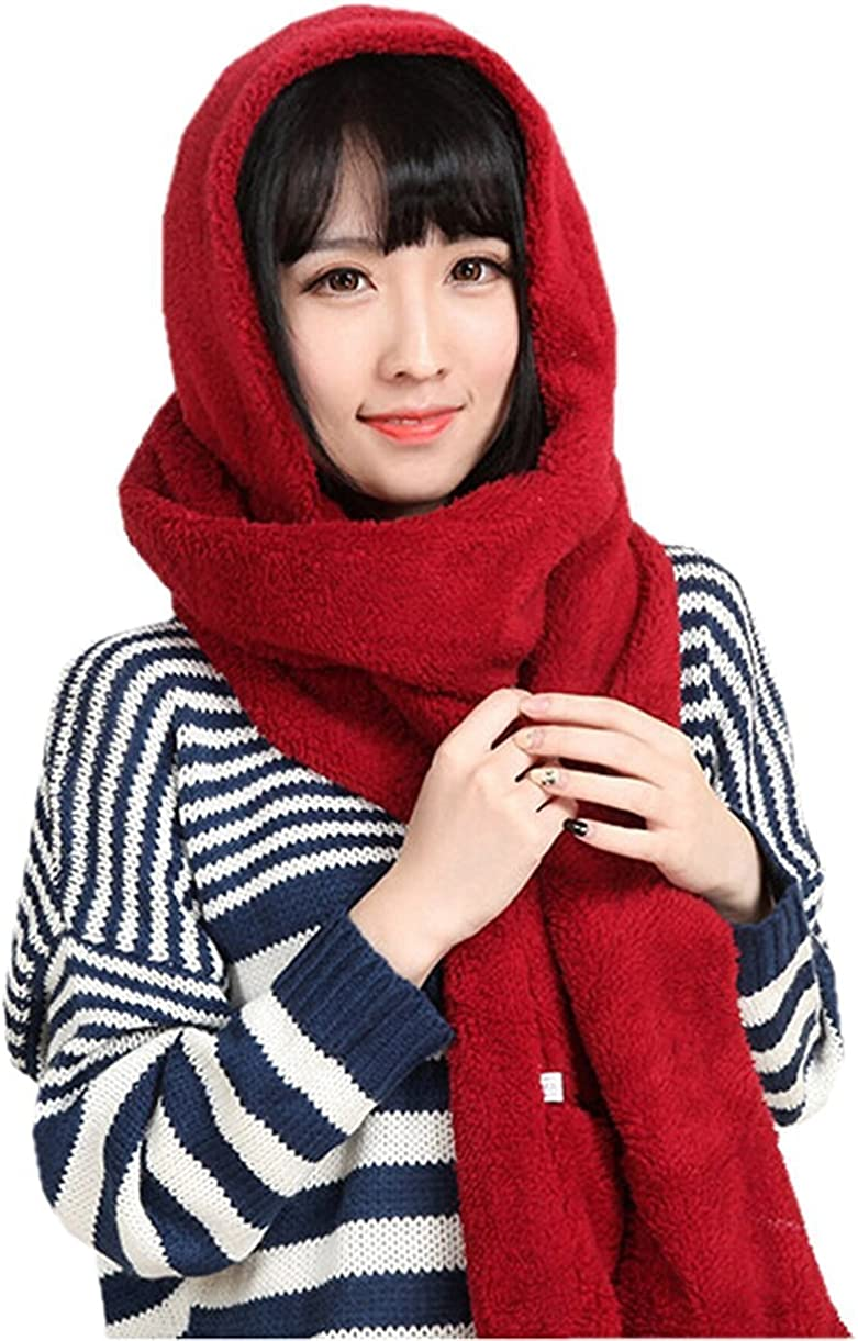 Un Omaggio a Sorpresa allInterno della Confezione Ducomi GeekChic Idea Regalo Donna per Natale Luxury Designer Sciarpa Cappello Guanti in Uno in Pile Termico