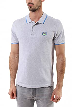 00531bc6a Kenzo Men's White Tiger Head Polo Shirt Light Grey at Amazon Men's ...