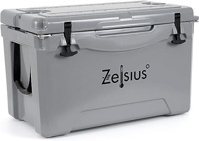 Zelsius Nevera Portátil Isotérmica I 50 litros I Termobox I Rígida I Calor y Frio I Coche I Camping I Vacaciones I Pesca I Playa