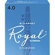 Royal by D'Addario Bb Clarinet Reeds, Strength 4.0, 10-pack
