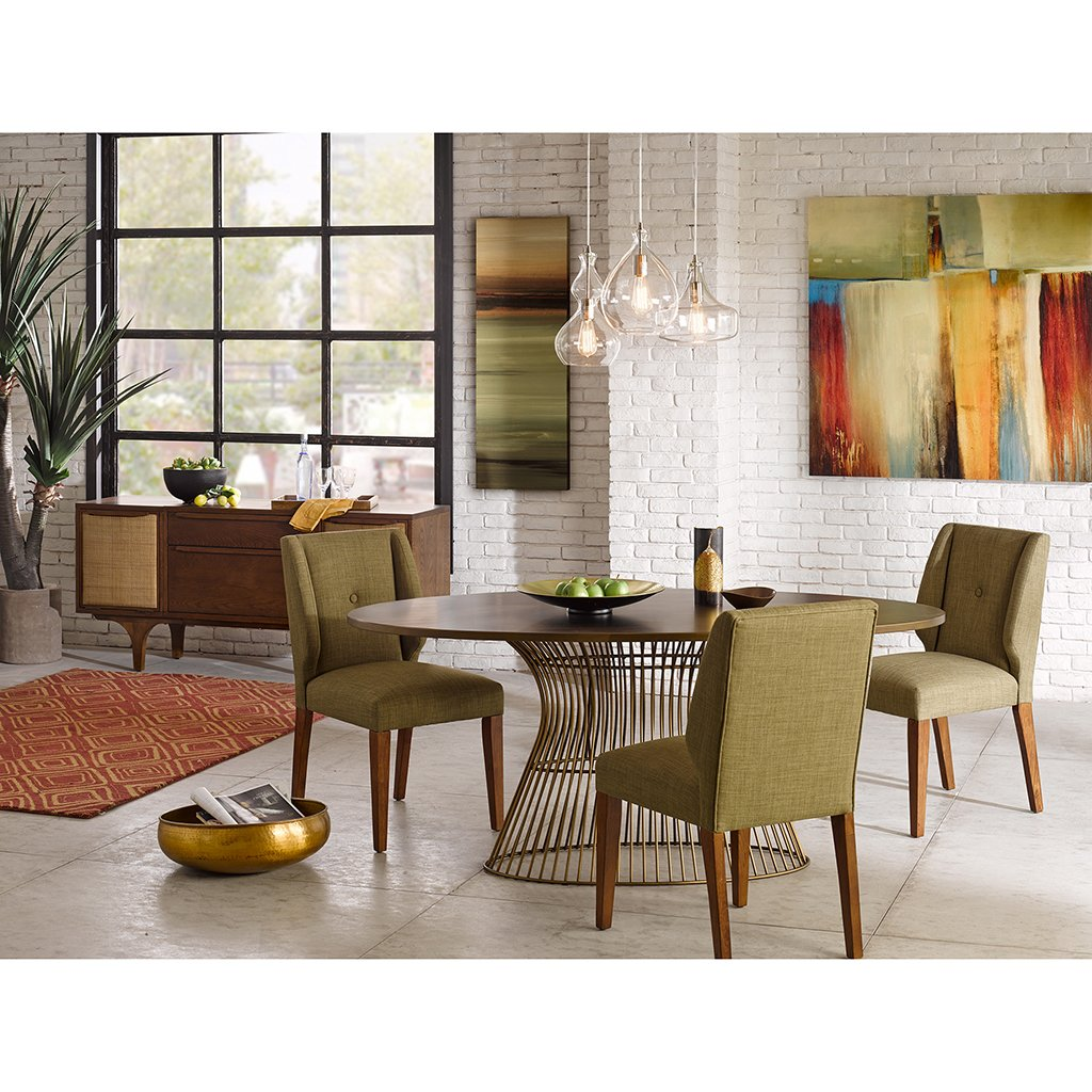 Amazon.com - INK+IVY Mercer Oval Dining Table Bronze See below - Tables