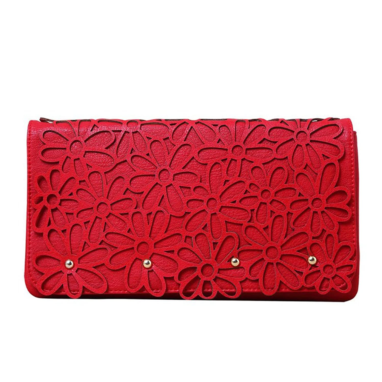 "Melie Bianco ""Marie"" Clutch Handbag (H6186) Red"
