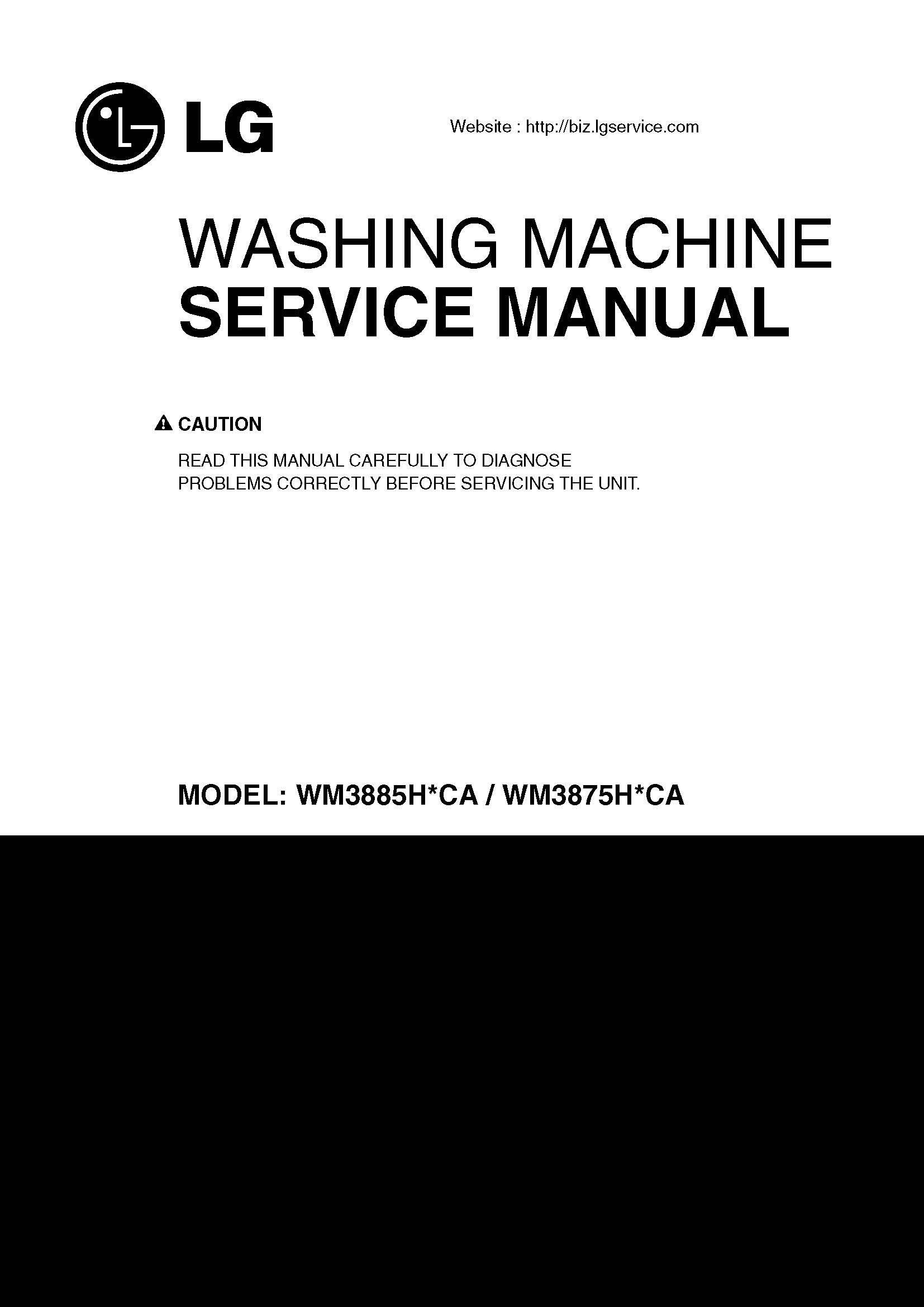 Lg Wm3875hvca Wm3885hvca Service Manual Books Washing Machine Motor Wiring Diagram