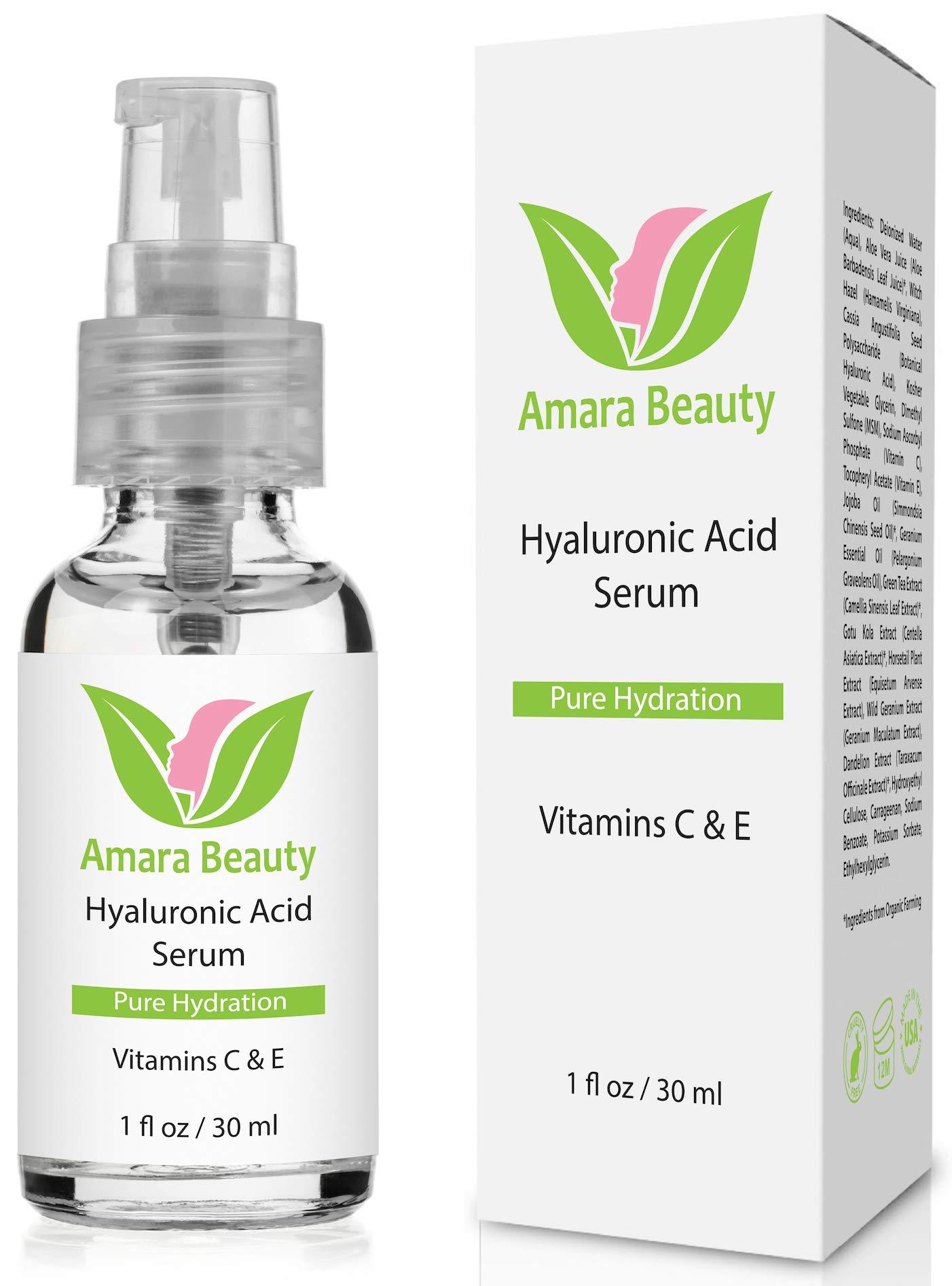 Hyaluronic Acid Serum for Skin with Vitamin C & E, 1 fl. oz.