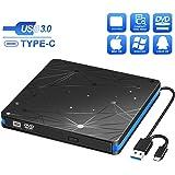 BlueFire External DVD Drive USB 3.0 Portable CD DVD ROM Drive Writer Reader Burner High Speed Data Transfer CD/DVD Drive Compatible with Laptop Desktop MacBook Windows10/8/7/XP/Vista/Mac OS