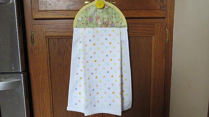 Amazon com: Easter Bunny Kitchen Towel Hanging Kitchen Towel