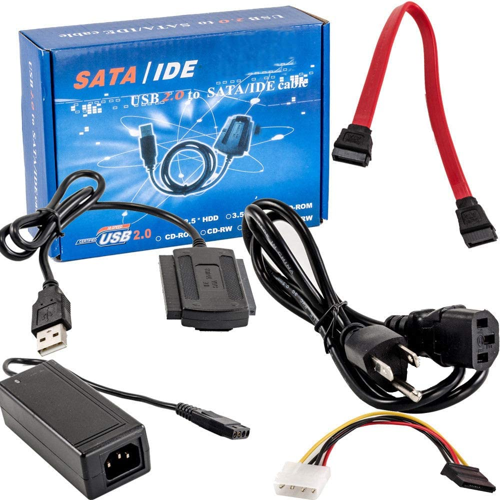 SATA//PATA//IDE Drive to USB 2.0 Adapter Converter Cable for 2.5//3.5 Hard Drive
